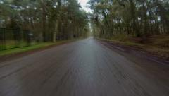 Driving on a bad road Stock Footage