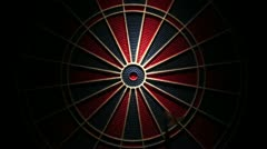 Darts bullseye Stock Footage