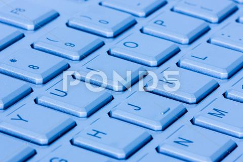 Stock photo of blue computer keyboard