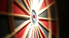 Darts tripple bullseye Stock Footage