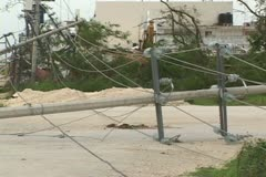 Hurricane Emily Yucatan Mexico Stock Footage