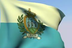 Flag of San Marino NTSC - stock footage
