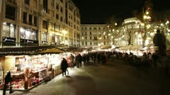 Christmas Market in Budapest Timelapse Stock Footage