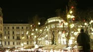 Stock Video Footage of Christmas Market in Budapest Timelapse