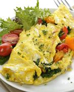 omelet with vegetables - stock photo