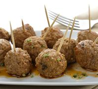 Meatball appetizers Stock Photos