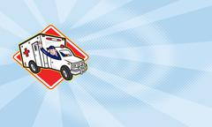 paramedic emt ambulance driver - stock illustration