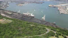 South Africa Durban Coal plany Stock Footage