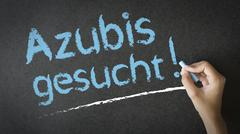 Azubis Gesucht - stock photo