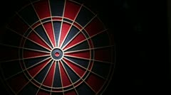 Darts double bullseye Stock Footage