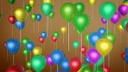 Flying balloon celebrate Stock Footage