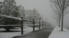 Snowfall Mt. Scott 01 Stock Footage