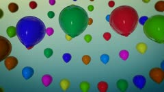 Rotation balloons celebration Stock Footage