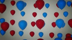 holidays balloon party - stock footage