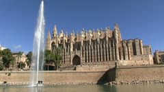 Spain - Majorca - Palma Cathedral Stock Footage