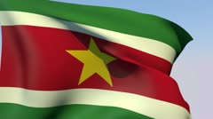 Stock Video Footage of Flag of Suriname HD
