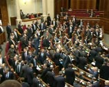 Fight in parliament Stock Footage