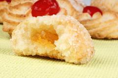 Assorted almond pastries Stock Photos