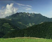 MOUNTAINS panoramic vew Stock Footage