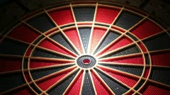 Darts multiple shots Stock Footage
