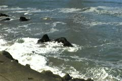 Waves Against The Shore Stock Footage