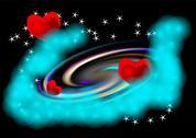 Abstract spiral galaxy Stock Illustration