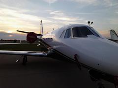 Cessna Citation On The Ramp - stock photo