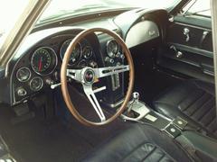 Corvette Stingray Interior - stock photo