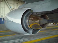 Boeing 737 Engine - stock photo