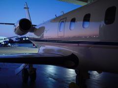 Private Jet Astra Jet Stock Photos