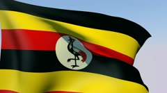 Flag of Uganda HD - stock footage
