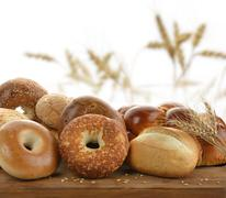 Bread assortment Stock Photos