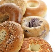 bagels - stock photo
