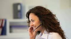 customer service representative - stock footage