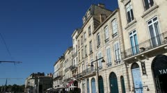 architecture of bordeaux chartrons, france - stock footage