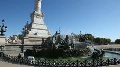 Statue of the girondins, esplanade des quinconces, bordeaux Stock Footage