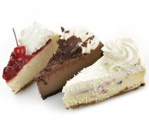 Cheesecake slices Stock Photos