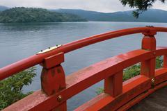 lake Ashi, Japan - stock photo