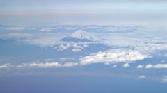 Stock Video Footage of Mt.Fuji aerial