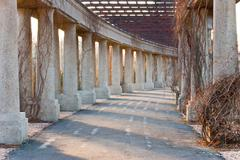 route between columns - stock photo