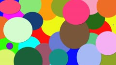Colored circles Stock Footage