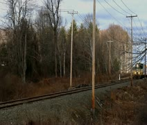 Slow Moving Freight Train Stock Footage