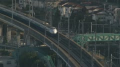 Bullet train and Skytree Stock Footage