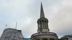 All Souls Church London time lapse Stock Footage