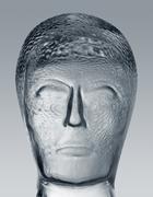 glass head profile - stock photo