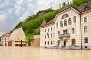 Stock Photo of the building of parliaments of liechtenstein on the main square. vaduz. europ