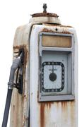 corroded old filling pump detail - stock photo