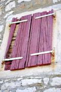 Stock Photo of Old wooden shutters