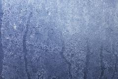 Stock Photo of An icy window pane (macro zoom)