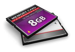 High speed CompactFlash memory cards - stock photo
